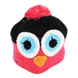 Crochet Owl Hat Pattern Hand Knitted Multi Coloured Owl Hat With Pom Pom Fashion