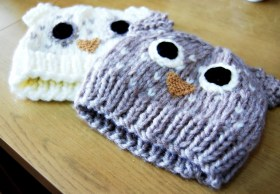 Crochet Owl Hat Pattern The Geeky Knitter Owl Hat Free Knitting Pattern