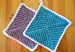 Crochet Potholder Patterns Trendy Square Crochet Pot Holder