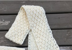 Crochet Winter Scarf Patterns Diamond In The Rough Crochet Winter Scarf Pattern Crochet