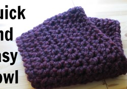 Easy Crochet Cowl Pattern Quick And Easy Cowl Youtube