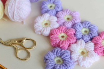 Easy Crochet Flower Pattern Puff Flower Free Pattern Bella Coco Crochet
