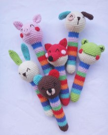 Free Crochet Animal Patterns Crochet Animal Ba Rattles Patterns Amigurumi Today