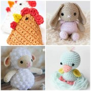 Free Crochet Animal Patterns Free Crochet Patterns For Spring Daisy Cottage Designs