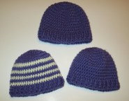 Free Crochet Patterns For Baby Hats Ba Ribbed Band Hats My Recycled Bags