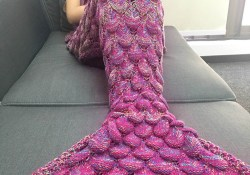 Mermaid Tail Crochet Pattern 19085cm Adult Handmade Knitted Mermaid Blanket Crochet Tassel