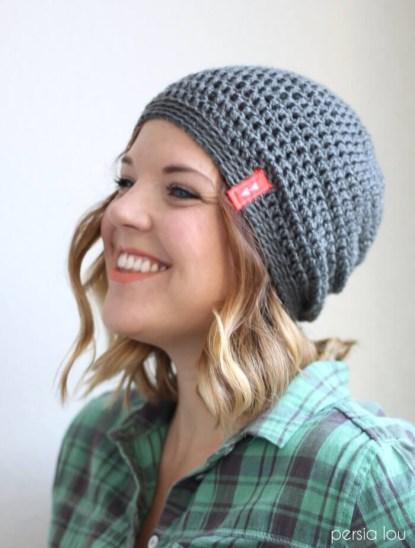 9ae9434283b Slouchy Hat Crochet Pattern Simple Slouchy Crochet Hat Pattern For Beginners