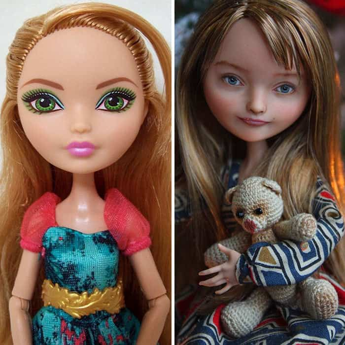 dolls look real after removing makeup