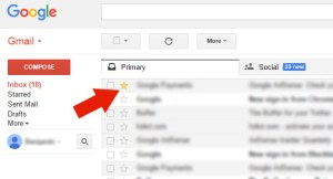 Star Contact On Gmail For Easy Grouping