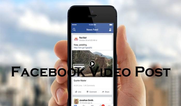 Facebook Video Post - Facebook Posts   Facebook Status