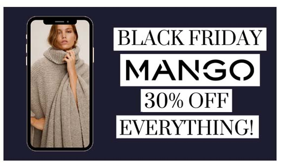 Mango Black Friday - 30% Off For Purchases Over $150 |Mango Black Friday 2020 Deals