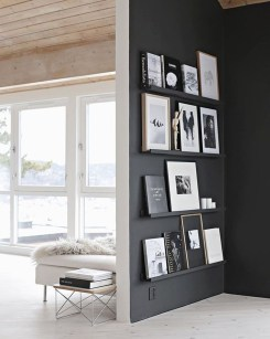 Best Home Office Ideas With Black Walls 07