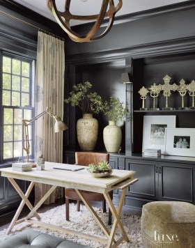 Best Home Office Ideas With Black Walls 10