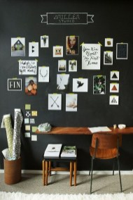 Best Home Office Ideas With Black Walls 11