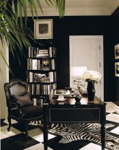 Best Home Office Ideas With Black Walls 20