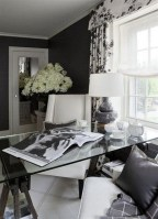 Best Home Office Ideas With Black Walls 28