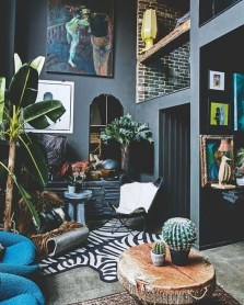 Best Living Room Ideas With Black Walls 02