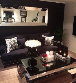 Best Living Room Ideas With Black Walls 05