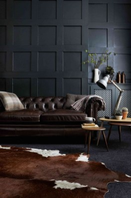 Best Living Room Ideas With Black Walls 17