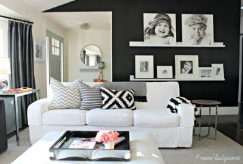Best Living Room Ideas With Black Walls 26