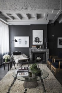 Best Living Room Ideas With Black Walls 30