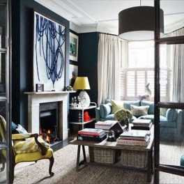 Best Living Room Ideas With Black Walls 36