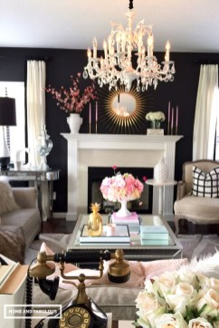 Best Living Room Ideas With Black Walls 42