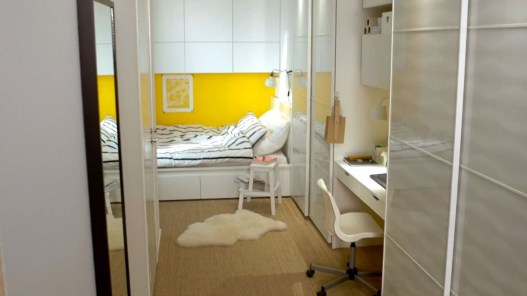 Contemporary Micro Apartment Organized With Boxes 01