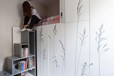 Contemporary Micro Apartment Organized With Boxes 17