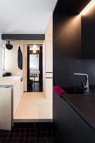 Minimalist Micro Apartment With A Hint Of Color 14