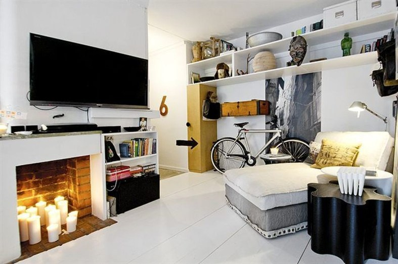 Minimalist Micro Apartment With A Hint Of Color 16