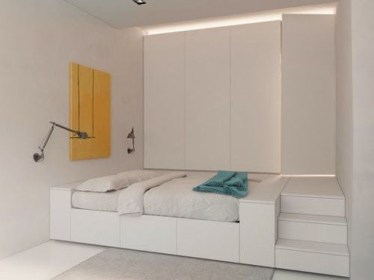 Minimalist Micro Apartment With A Hint Of Color 21