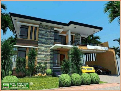 Spectacular Designs Of Minimalist Two Storey House 49