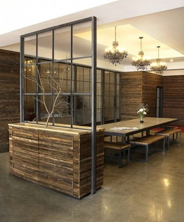 Beautiful Open Kitchens With Unique Partitions And Room Dividers 09