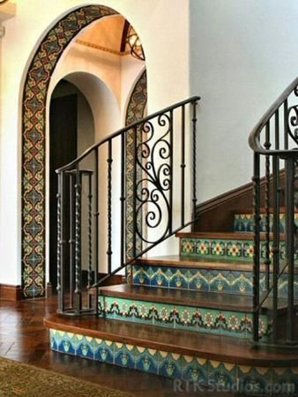 Beautiful Tiled Stairs Designs For Your House 18
