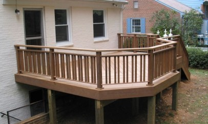 Wood Railing Ideas For Your House Style 46