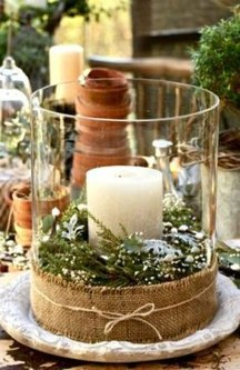 Charming Christmas Candle Decor Ideas 08