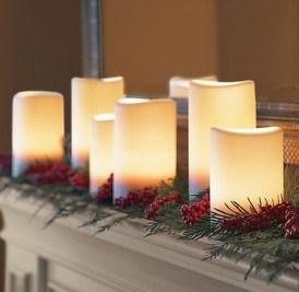 Charming Christmas Candle Decor Ideas 40