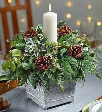 Charming Christmas Candle Decor Ideas 44