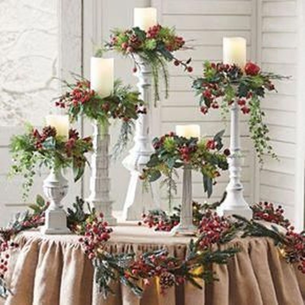 Charming Christmas Candle Decor Ideas 49