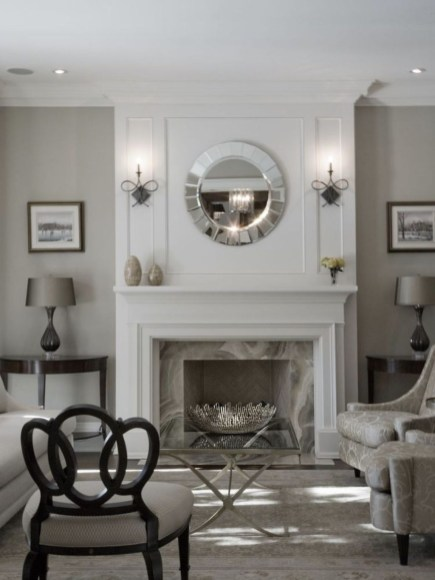 Comfy Winter Living Room Ideas With Fireplace 11