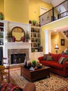 Comfy Winter Living Room Ideas With Fireplace 21