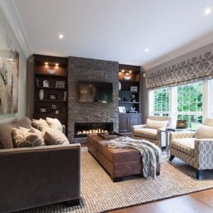 Comfy Winter Living Room Ideas With Fireplace 23