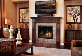 Comfy Winter Living Room Ideas With Fireplace 35