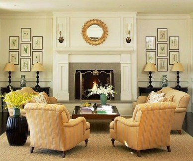Comfy Winter Living Room Ideas With Fireplace 39