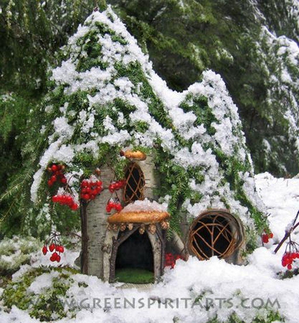 Pretty Diy Christmas Fairy Garden Ideas 08