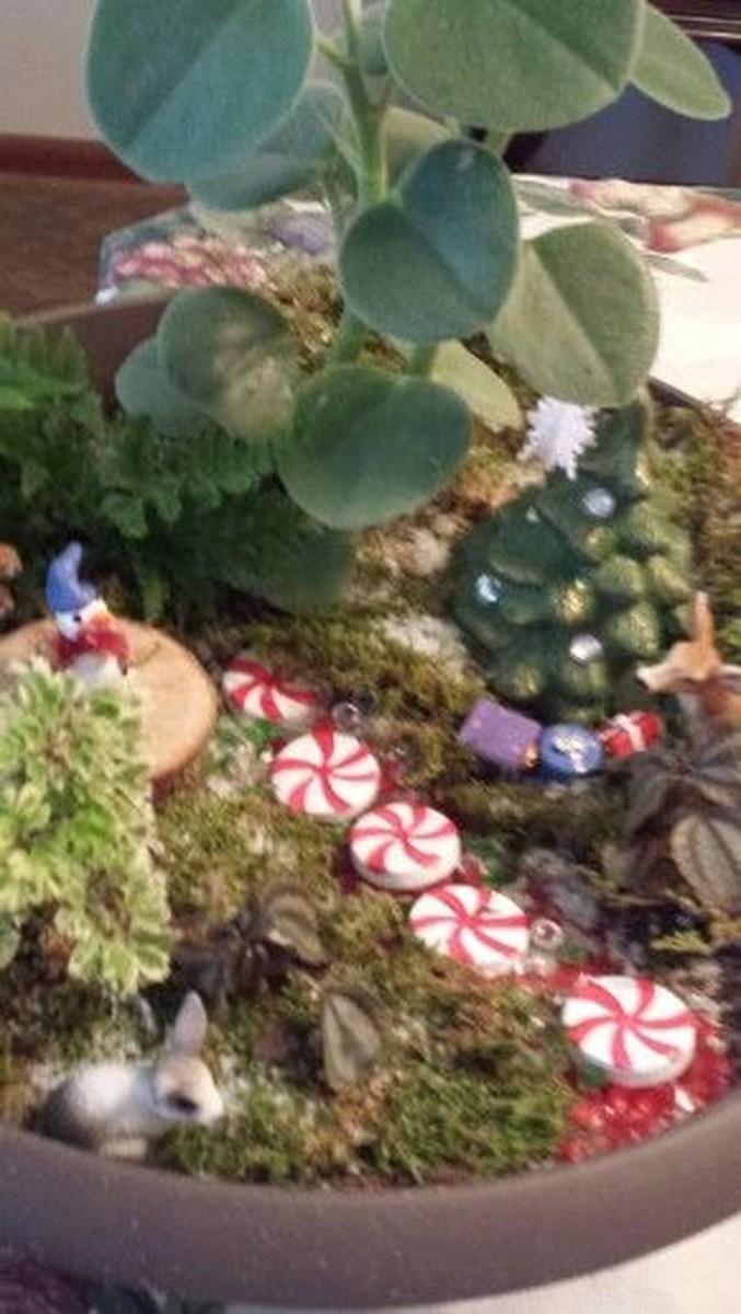 Pretty Diy Christmas Fairy Garden Ideas 09