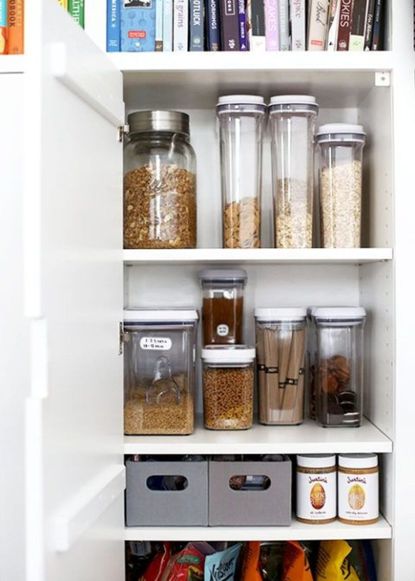 Simple Minimalist Pantry Organization Ideas 56