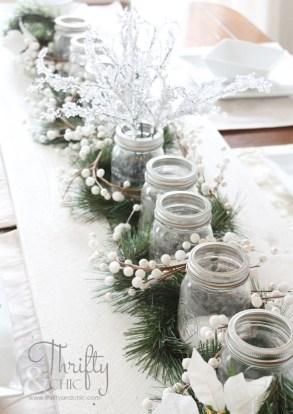 Stunning Christmas Dining Table Decoration Ideas 49