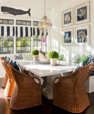 Elegant Beach Coastal Style Kitchen Decor Ideas 33